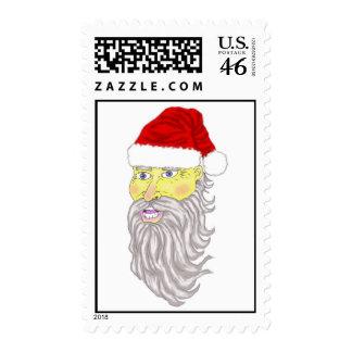 Navidad de Santa que dibuja sellos