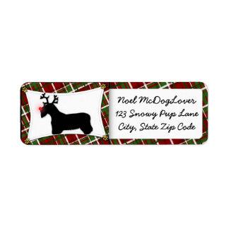 Navidad de Sealyham Terrier Etiqueta De Remite