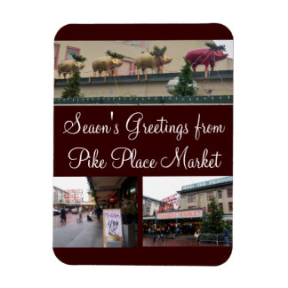 Navidad de Seattle Imán Foto Rectangular