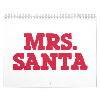 Navidad de señora Papá Noel Calendario