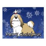 Navidad de Shih Tzu del dibujo animado Tarjetas Postales