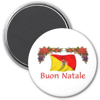 Navidad de Sicilia Imán Redondo 7 Cm