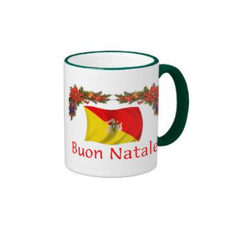 Navidad de Sicilia Taza A Dos Colores