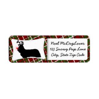 Navidad de Skye Terrier Etiquetas De Remite