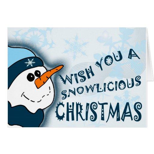 Navidad de Snowlicious Felicitación