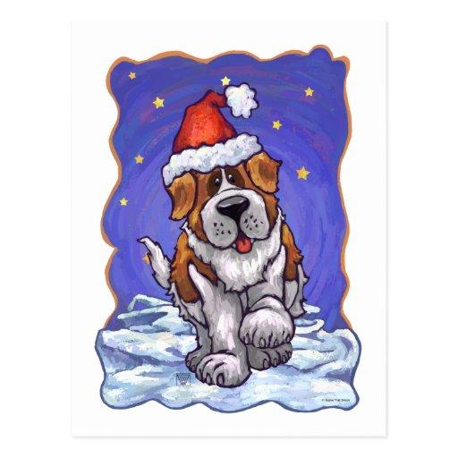 Navidad de St Bernard Postales
