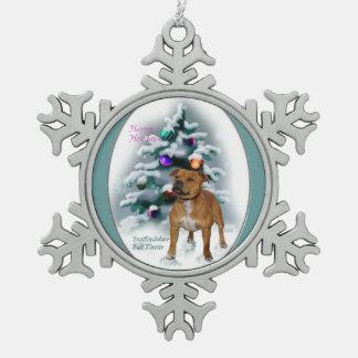 Navidad de Staffordshire bull terrier Adornos
