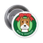 Navidad de Staffordshire Terrier americano Pins