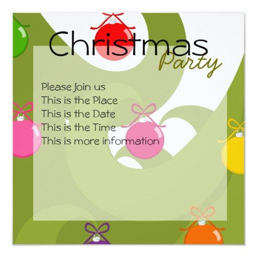 """Navidad de Swirly Invitación 5.25"""" X 5.25"""""""