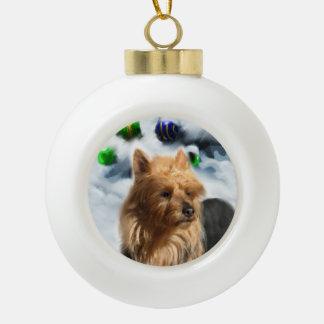 Navidad de Terrier australiano Adorno