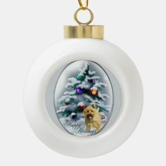 Navidad de Terrier de mojón Adornos