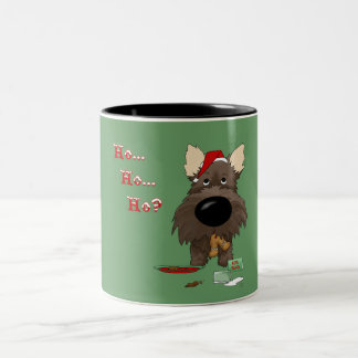Navidad de Terrier de mojón Taza De Café