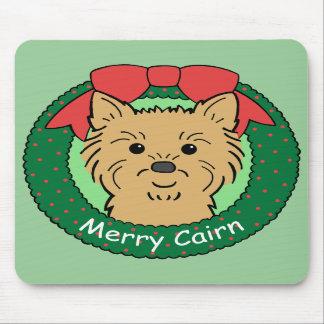 Navidad de Terrier de mojón Alfombrilla De Raton