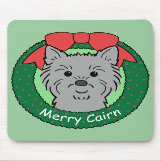 Navidad de Terrier de mojón Alfombrilla De Ratón