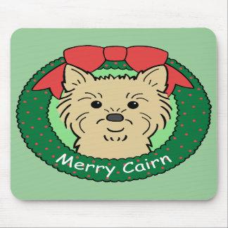 Navidad de Terrier de mojón Tapetes De Ratones
