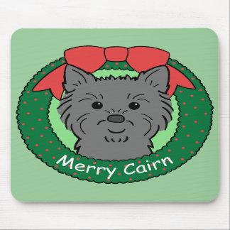 Navidad de Terrier de mojón Alfombrilla De Ratones