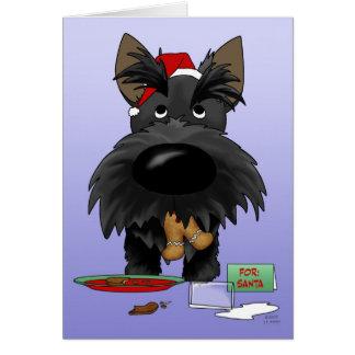 Navidad de Terrier del escocés Felicitación