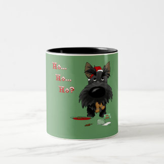 Navidad de Terrier del escocés Tazas