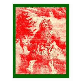 Navidad de Toile del Victorian de Santa del Tarjetas Postales