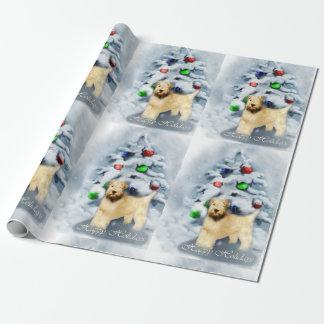 Navidad de trigo suavemente revestido de Terrier Papel De Regalo