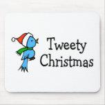 Navidad de Tweety Alfombrilla De Ratón