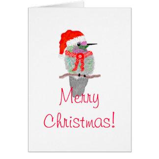 Navidad de un colibrí tarjeta de felicitación