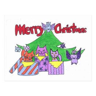 ¡Navidad de un gato del gatito! Tarjetas Postales