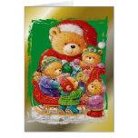Navidad de un oso de peluche felicitacion