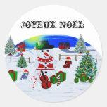 Navidad de un país etiquetas