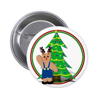 Navidad de un reno de Beary Pin