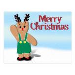 Navidad de un reno de Beary Postal