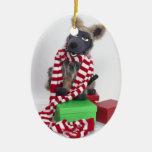 Navidad de un Timberwolf del soldado de caballería Ornamento Para Arbol De Navidad