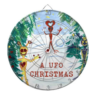 Navidad de un UFO Tablero Dardos