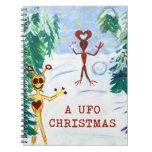 Navidad de un UFO Libretas