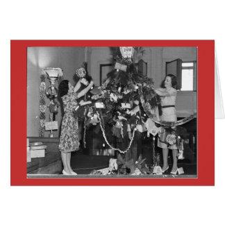 Navidad de un vintage tarjeta de felicitación