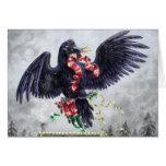 Navidad de una costa oeste: Cuervo Tarjetón