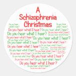 Navidad de una esquizofrenia pegatinas