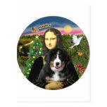 Navidad de una Mona Lisa - perrito del MD de Berne Postal