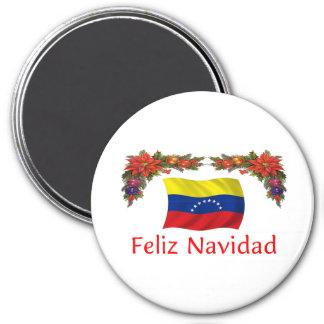 Navidad de Venezuela Imán Redondo 7 Cm