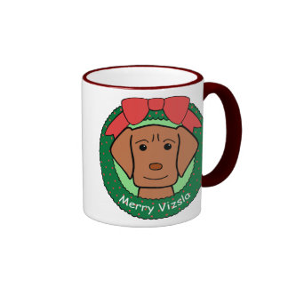 Navidad de Vizsla Tazas De Café