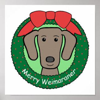 Navidad de Weimaraner Posters
