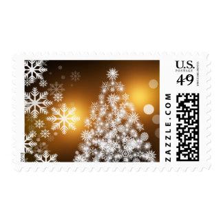 Navidad decorativo del vintage de los ornamentos timbres postales