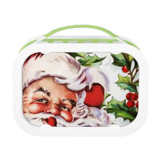 Navidad del acebo del vintage de Papá Noel