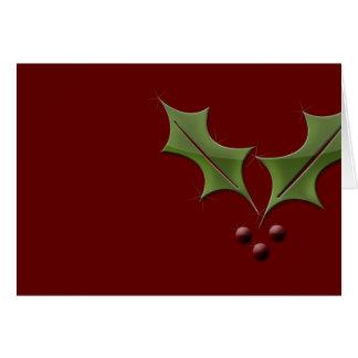 Navidad del acebo tarjeta de felicitación