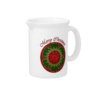 Navidad del acebo y de la hiedra jarra para bebida