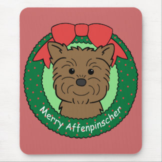 Navidad del Affenpinscher Alfombrilla De Ratones