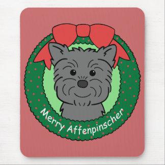 Navidad del Affenpinscher Alfombrillas De Raton