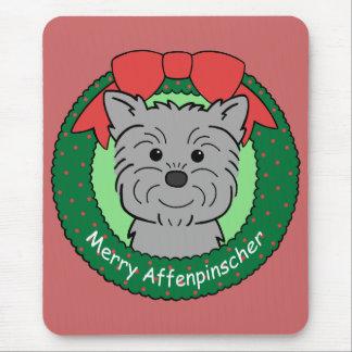 Navidad del Affenpinscher Mousepad