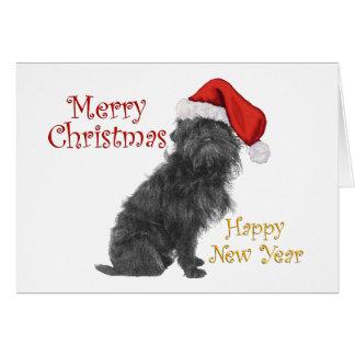 Navidad del Affenpinscher Tarjeta De Felicitación