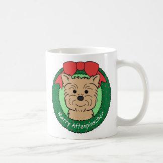 Navidad del Affenpinscher Taza